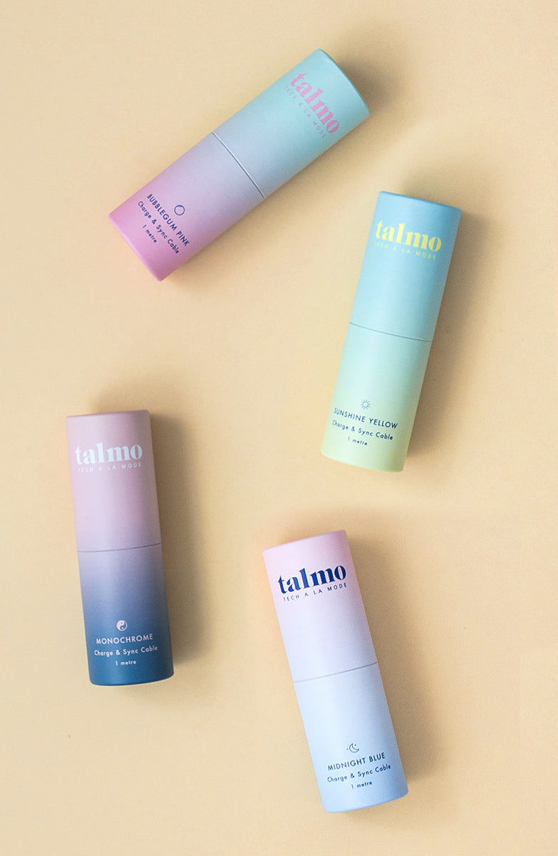 talmo - tube cardboard packaging colorfull
