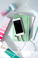 talmo - bubblegum pink iPhone charge cable