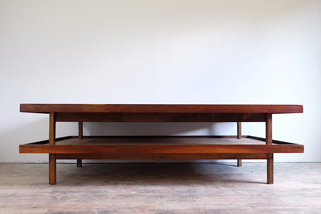 Danish Mid Century Modern Platforms Daybed Sofa Solid Walnut