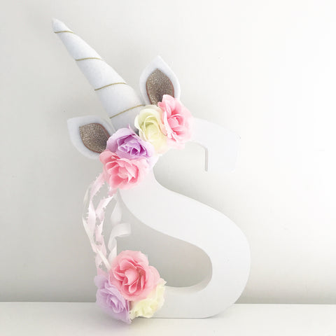 Unicorn wooden letters