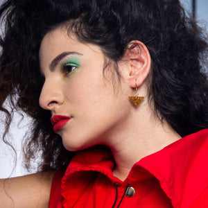 SLICE OF GOLD EARRINGS