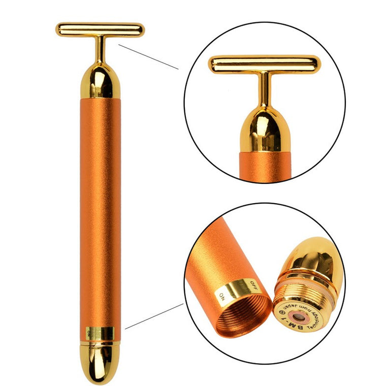 Massageador Facial Vibratório 24k Gold Efeito Lifting