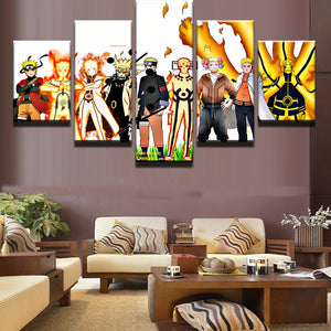 NARUTO ALL FORMS CANVAS ART