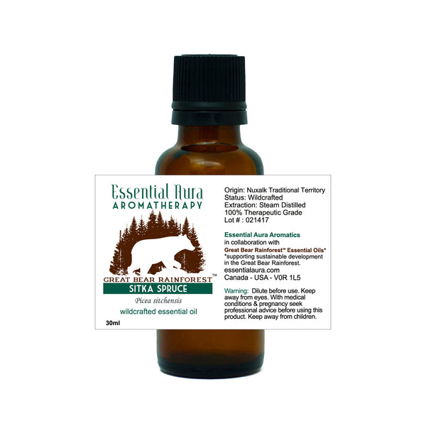 bottle of Great Bear Rainforest Sitka Spruce Essential Oil