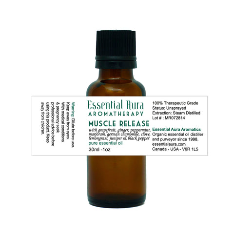 bottle of Muscle Release Essential Oil Blend