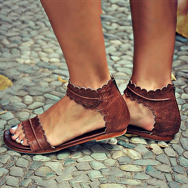 Mae - Vintage Open Toe Sandals