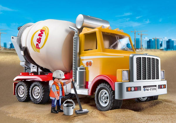 Playmobil Cement Truck Building Kit 9116