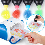 New Arrival DIY 3D Magic Machine Printer Enlighten Painting Draw Kids Toy