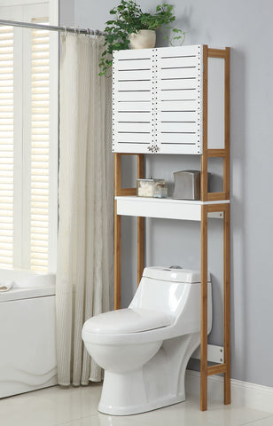 Organize It All Spacesaver - White/Bamboo