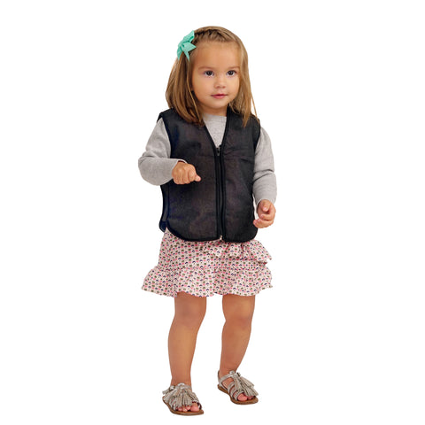 ZooVaa Weighted Kids Vest - Children's Youth Weighted Compression Vest w/ Removable Weights -Medium