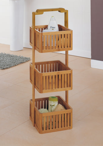 Organize It All Stationary Caddy - Bamboo