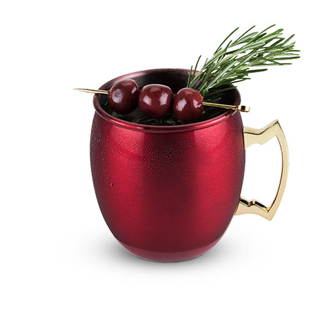 Rustic Holiday: Red Moscow Mule Mug by Twine
