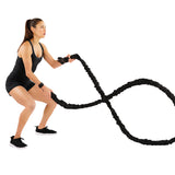 EFITMENT Elastic Battle Rope Exercise Training Fitness Rope, 1.1in Diameter, 30ft - A011