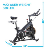 EFITMENT Indoor Cycle Bike, Belt Drive Cycling Exercise Bike w/40 lb Flywheel, LCD Monitor - IC014