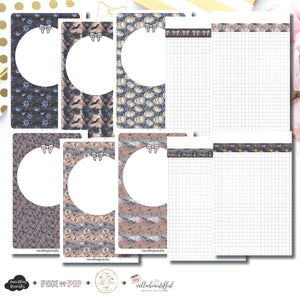 Mini HP Size | Blank Covers + Undated Grid Collaboration Printable Insert ©