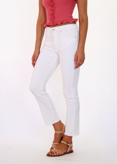 IRO Jeans High-Rise White Ajuste Cropped Jean
