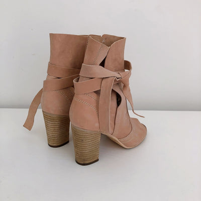 Wittners Suede Summer Heel Ankle Boots