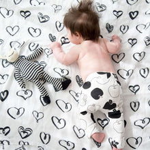 Rapt Black Hearts Baby Wrap