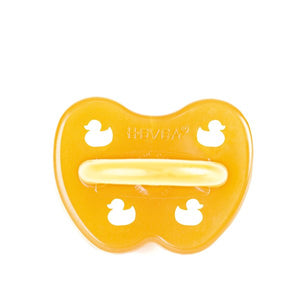 Hevea Natural Rubber Dummy - Duck (symmetrical teat)