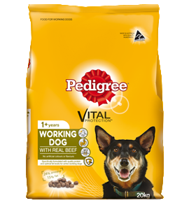Pedigree Working Dog Formula with Real Beef
