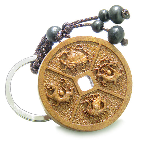 Lucky Coin Keychains and Good Luck Charms Amulets and Talismans Gifts