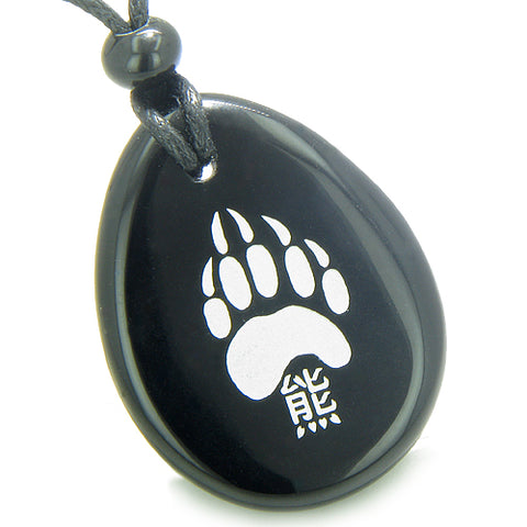 Wish Word Stones Grizzly Bear Necklaces Brave Protection Powers Amulets and Talismans Gifts