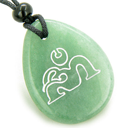 Wish Word Stones Om Ohm Necklaces Magic Good Luck Powers Amulets and Talismans Gifts