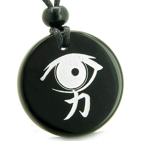 Wish Word Stones Tablet Shape Necklaces Good Luck Powers Amulets and Talismans