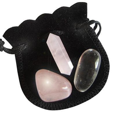 Love - Crystal Point Talisman Pouch