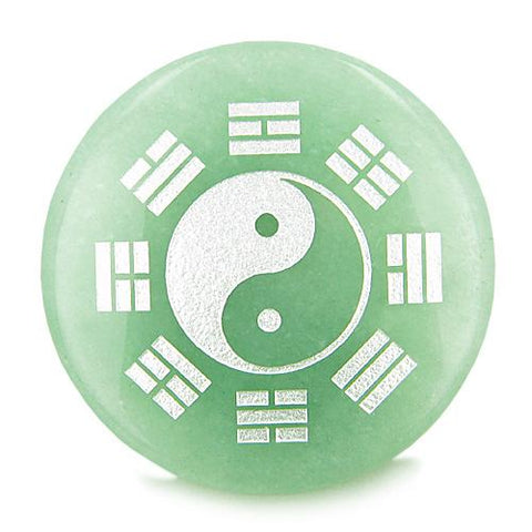 Yin Yang Eight Trigrams Amulet Magic Circle Gemstone Good Luck Powers Individual Totem