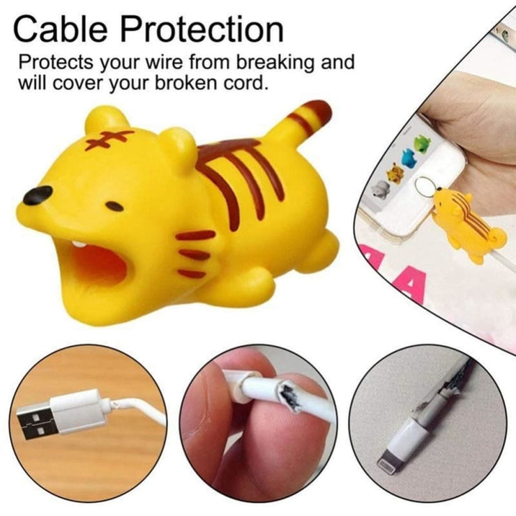 Adorable Iphone Cord Fray Protecting Buddy!