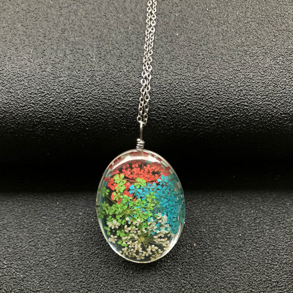 New Arrival Natural Dry Flower Necklace