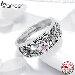 Fashion 925 Sterling Silver Daisy Flower  Rings