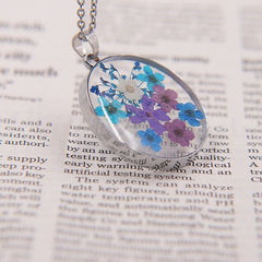 Handmade Colorful Natural Dried Flower Necklace