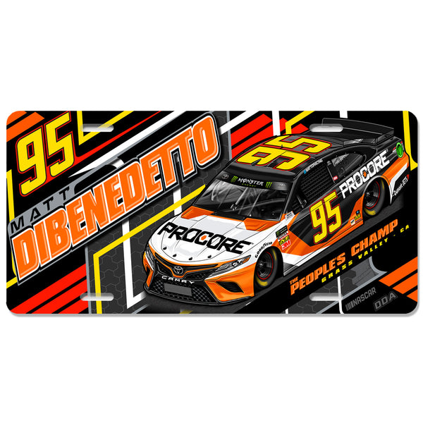 "Matt DiBenedetto ""Sourcing It"" License Plate"