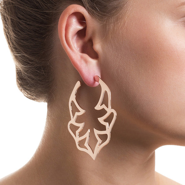 Florabella Large Bella Hoops Rose