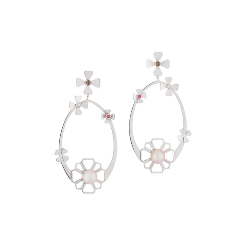 Flora Earrings Silver