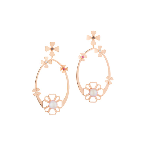 Flora Earrings Rose
