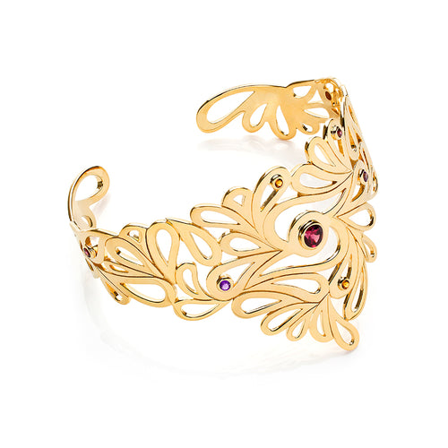 Mari Splash Cuff Yellow Gold