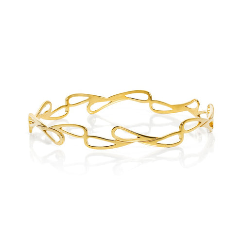 Mari Splash Bangle Yellow Gold Vermeil