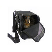 Diamond Quilt Dog Carrier Purse. Black. Featherweight. Teacup and Small Dogs up to 12 LBS