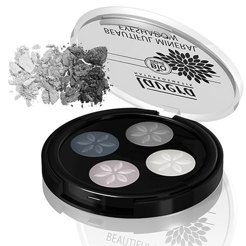 Lavera Beautiful Mineral Eyeshadow Quattro - Smokey Grey