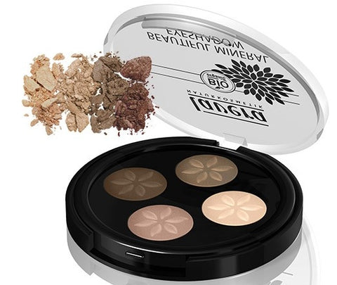 Lavera Beautiful Mineral Eyeshadow Quattro - Cappuccino Cream