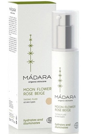 Madara Organic Skin Care Tinting Fluid Moon Flower Rose Beige