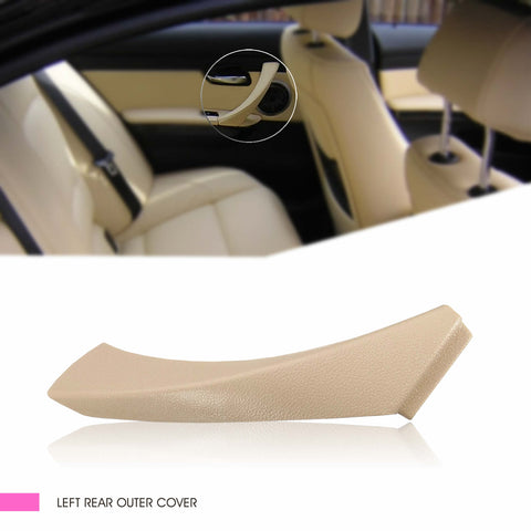 InSassy Door Panel Pull Handle Trim Cover for BMW E90 E91 E92 E93 3 Series - LEFT Rear Driver Side