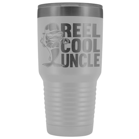 Reel Cool Uncle 30oz. Tumblers Uncle Travel Mug white