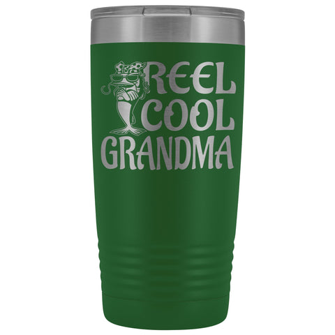 Reel Cool Grandma Fishing 20oz Tumbler green