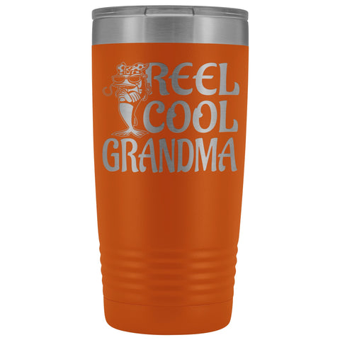 Reel Cool Grandma Fishing 20oz Tumbler orange