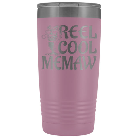 Reel Cool Memaw Fishing 20oz Tumbler light purple
