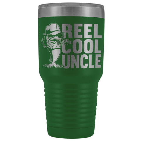 Reel Cool Uncle 30oz. Tumblers Uncle Travel Mug green